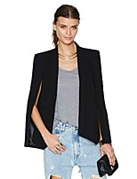 Women's Solid Blue / Red / Black / Orange / Yellow Blazer , Casual / Party Shirt Collar Long Sleeve