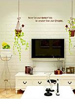Botânico / Paisagem Wall Stickers Autocolantes de Aviões para Parede , PVC 50cm*70cm
