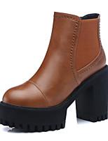 Zapatos de mujer - Tacón Robusto - Botas de Nieve / Botas a la Moda - Botas - Oficina y Trabajo / Casual / Fiesta y Noche - Sintético -