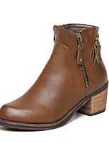 Women's Shoes Low Heel Fashion Boots Boots Casual Black / Brown