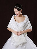 Wedding / Party/Evening Faux Fur Shawls Sleeveless Wedding  Wraps