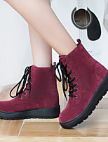 Women's Shoes Canvas Platform Snow Boots / Fashion Boots / Combat Boots Outdoor / Casual Black /Dark Blue / Burgundy