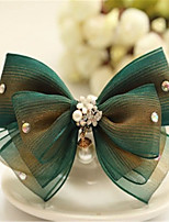 Palace restoring ancient ways British green fashion celebrities yun yarn bowknot hairpin
