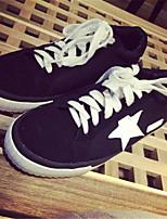 Scarpe Donna - Sneakers alla moda - Casual - Punta arrotondata - Piatto - Finta pelle - Nero