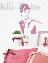 Fashion / People Wall Stickers Plane Wall Stickers , PVC 45m*60cm