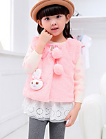 Girl's Pink / Red / Beige Vest , Cartoon Polyester Winter / Spring / Fall