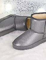 Chaussures Femme - Décontracté - Argent / Or - Talon Bas - Bout Arrondi - Bottes - Similicuir
