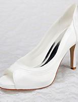 Women's Shoes Satin Stiletto Heel Heels / Peep Toe / Platform Sandals Wedding / Office & Career / Party & Evening /Dress