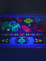 10/PCS Hot Sale Fluorescent Tattoo Handsome Multi-Style Temporary Tattoo For Fashion WST-172