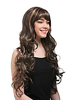 Capless Mix Color Long Length High Quality Natural Curly Hair Synthetic Wig