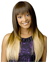 Fashionable  Long Silky Straight Synthetic Wave Wigs To European And America Women Lady