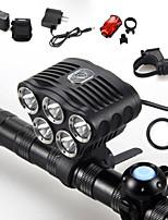 Luces para bicicleta ( A Prueba de Agua / Recargable / Resistente a Golpes / Bisel de Impacto / Táctico / Emergencia ) - LED 5 Modo 6000