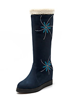 Women's Shoes  Low Heel Pointed Toe / Closed Toe Boots Office & Career / Dress / Casual Black / Blue