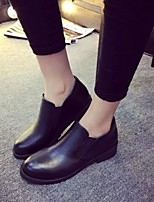 Women's Shoes Leatherette Chunky Heel Fashion Boots / Combat Boots Boots Outdoor / Dress / Casual Black