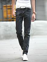AOLONGQISHI® Men's Pure Long Sleeve Pant , Cotton / Denim Casual 8012