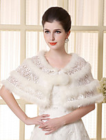 Lace Sleeveless  Imitation Cashmere Strips Wedding Wraps Capelets/Wraps/Shawls