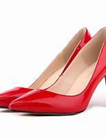Women's Shoes Leatherette Stiletto Heel Heels / Pointed Toe Heels Party & Evening / Dress / CasualBlack / Blue