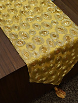 Table Runners  with Golden Loop Patterned/Sequins/Polyester