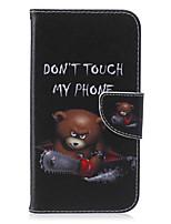 Para Samsung Galaxy Capinhas Porta-Cartão / Carteira / Com Suporte / Flip / Estampada Capinha Corpo Inteiro Capinha Palavra / FraseCouro