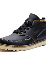 Men's Shoes Outdoor / Athletic / Casual Leather Boots Black / Brown / Khaki