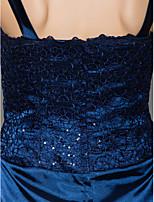 Sheath/Column Mother of the Bride Dress - Dark Navy Ankle-length 3/4 Length Sleeve Charmeuse