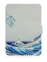 urso ™ 6 polegadas caso de couro capa de impressão tímido para amazon kindle paperwhite ebook