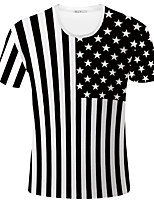Gebreid - Print - Heren - T-shirt - Informeel / Sport - Korte mouw