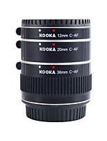 KOOKA KK-C68A Aluminium AF Extension Tubes for Canon EF&EF-S (12mm 20mm 36mm) SLR Cameras