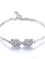 Japan and Korea style 925 Sterling Silver Bracelet with animal design