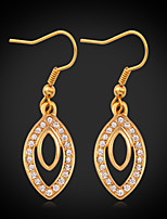 Instyle 18K Real Gold Plated Drop Dangle Rhinestone Earrings High Quality
