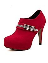 Women's Shoes Chunky Heel Fashion Boots / Closed Toe Boots Party & Evening / Dress / Casual Black / Red