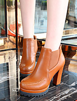Women's Shoes Chunky Heel Fashion Boots Boots Casual Black / Brown
