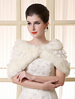 Lace Ruffles Sleeveless Wedding Wraps Imitation Cashmere Capelets/Wraps/Shawls