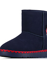 Women's Shoes Suede Flat Heel Snow Boots / Comfort Boots Office & Career / Casual Black / Blue / Red