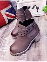 Women's Shoes Chunky Heel Riding Boots Boots Casual Black / Gray