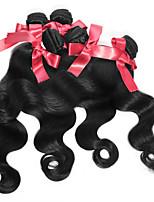 cheveux brésiliens vierges de vague de corps tisse 1pcs naturel noir # 1b corps de cheveux humains vague de cheveux de vague regroupe 50g