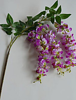 Zadeh 3 Head Wisteria Polyester Others Artificial Flowers