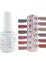 YeManNvYou®1PCS Sequins UV Color Gel Nail Polish No.169-180 Soak-off(15ml,Assorted Colors)