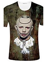 CliffWalker Men characters digital printing round collar short sleeve T-shirt