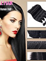 Pelo virginal brasileño 6a 3 paquetes recta cabello humano virginal del pelo recto brasileño