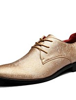 Oxfords Spring Summer Fall Winter Comfort Synthetic Office & Career Party & Evening Casual Black Gold