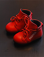 Baby Shoes Outdoor / Dress / Casual Leatherette Boots Black / Red / White
