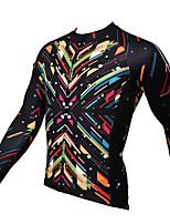 Sports® Cycling Jersey Men's Long Sleeve Breathable / Ultraviolet Resistant / Sweat-wicking Bike Tops Coolmax Fashion Summer / Fall/Autumn