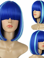 Anime Cosplay Wig Mixed Color Synthetic Wigs Hot Selling.