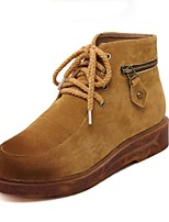 Women's Shoes  Platform Comfort / Round Toe Boots Outdoor / Casual Blue / Brown