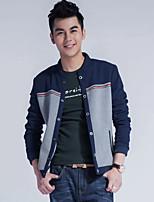Men's casual jacket slim collar collar jacket autumn baseball male Korean simple solid tide jackets