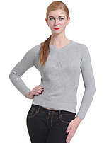 Frauen Casual / Arbeits Langarm-Pullover, Strickwaren Medium