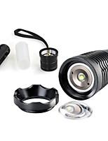 2000 lumens 12W CREE XM-L T6 Focus Adjust Zoom Led mini Flashlight Torch