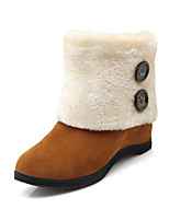 Women's Shoes Leatherette Flat Heel Snow Boots Boots Casual Black / Yellow / Red / Gray