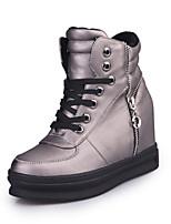 Women's Shoes Flat Heel Comfort Boots Outdoor Black / Silver